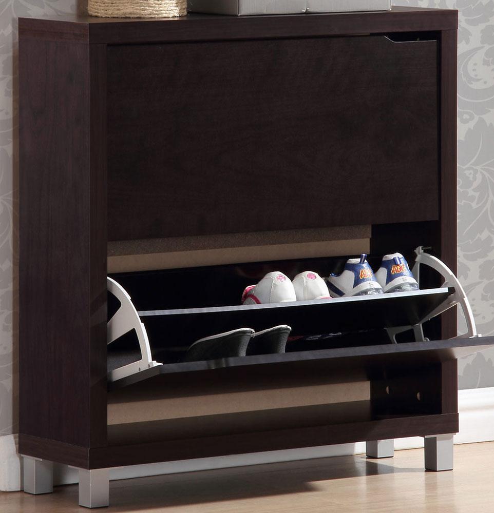 Wood Shoe Storage Cabinet in Shoe Cubbies